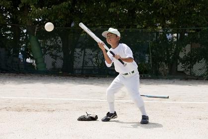 少年野球のバント練習