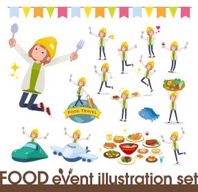 flat type knit cap blouson women_food festival