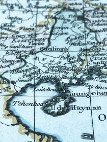 古地図 中国トンキン湾