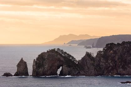 日本の国立公園・岩手三陸の北山崎