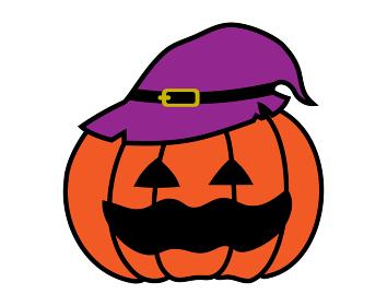 ハロウィン、ジャックオーランタンのシンプルなイラスト。かぼちゃのお化け。