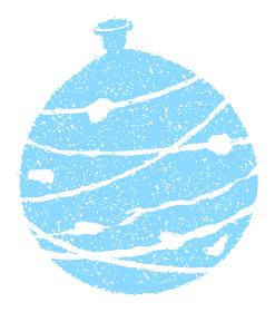 暑中見舞い・残暑見舞いで使える夏の風物詩 スタンプイラスト / ヨーヨー・水風船