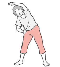 ラジオ体操 中年女性 ストレッチ 室内