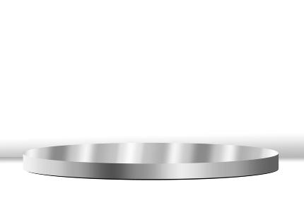 背景素材 ステージ 円 シルバー 鏡