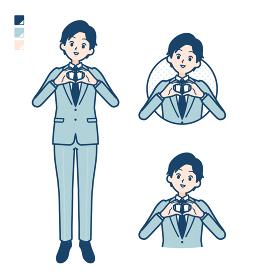 simple suit businessman_love-mark-hand-sign