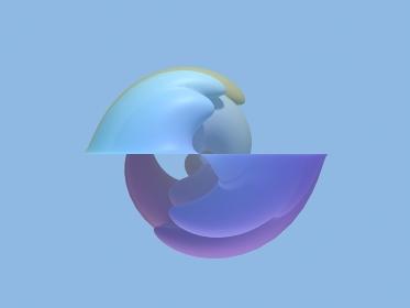 青い波の3d illustration