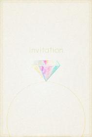 ダイヤモンドが美しい結婚式の招待状のカード