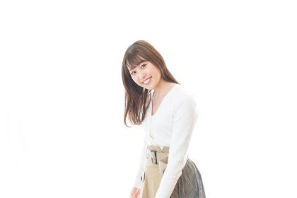 笑顔の若い女性ポートレート