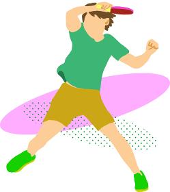 卓球選手(テーブルテニスプレイヤー)3