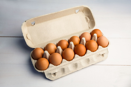 A 12 pack of eggs