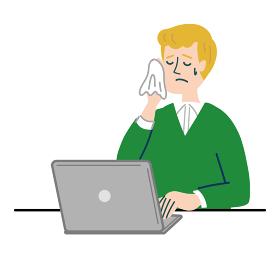 男性 外国人 ブロンド パソコン 困っている