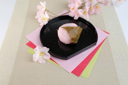 桜の花と桜餅