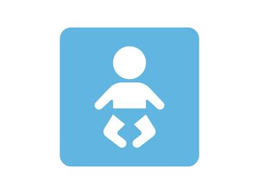おむつ姿の赤ちゃんのアイコン