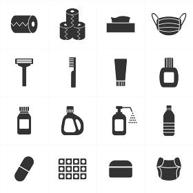 日用品と消耗品のアイコンセット