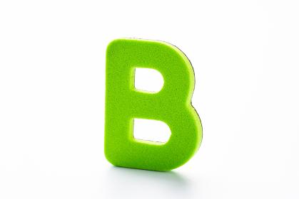 B アルファベット 白背景