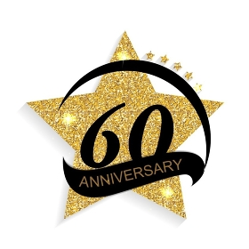 Template 60 Anniversary Vector Illustration EPS10. Template 60 Anniversary Vector Illustration