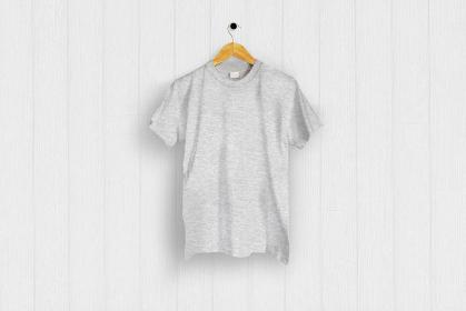 ヘザーグレーのTシャツ 白バック 5477