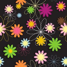 Flora Flower Seamless Pattern Design Vector Illustartion EPS10. Flora Flower Seamless Pattern Design Vector Illustartion