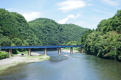 夏の久慈川