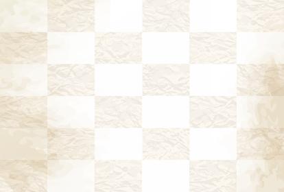 和紙、古紙風加工の和風背景素材 格子柄模様(はがきサイズ 比率)