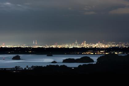 日本三景・松島、大高森展望台からの夜景
