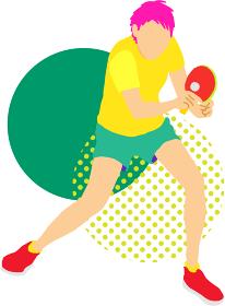卓球選手(テーブルテニスプレイヤー)2