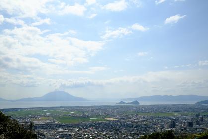 城山公園から展望する霧島の風景