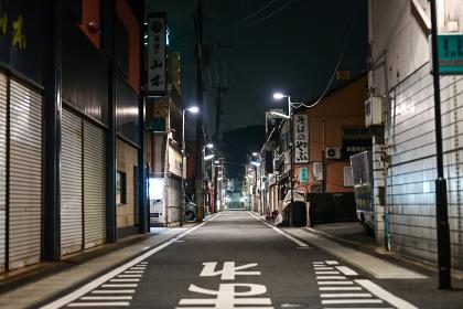 若松 夜の街角