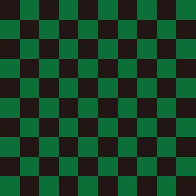 市松模様 黒×緑 L 2