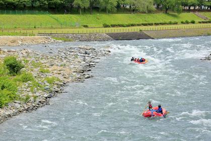 水上温泉 諏訪峡 ラフティング