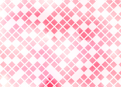 Abstract of lattice on pink watercolor