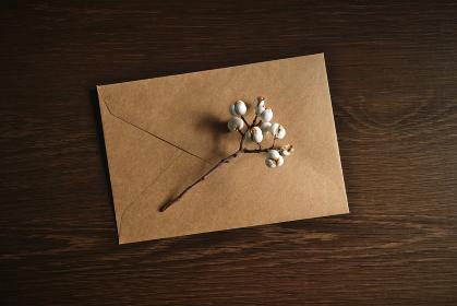 ナンキンハゼの実と封筒 6
