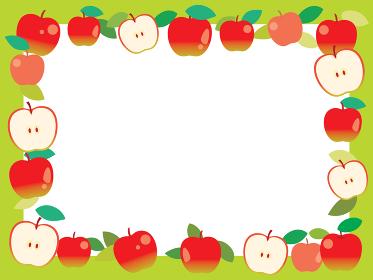 赤いリンゴのフレーム
