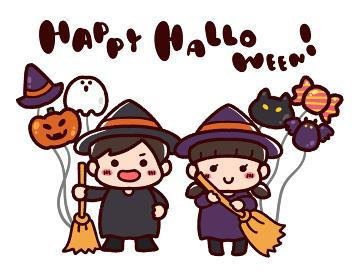 ハロウィンと仮装した子供
