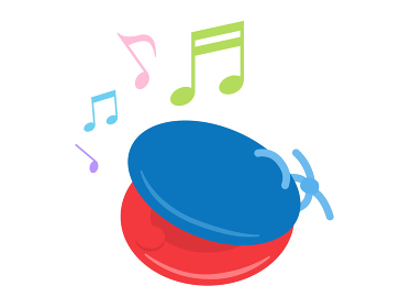 楽器のカスタネットを演奏するイラスト