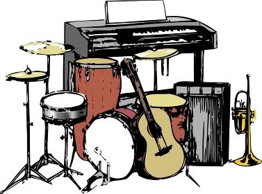 バンドの楽器類
