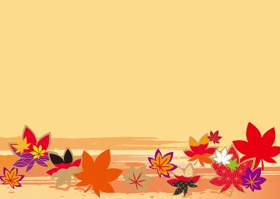 美しい秋の紅葉の背景イラスト