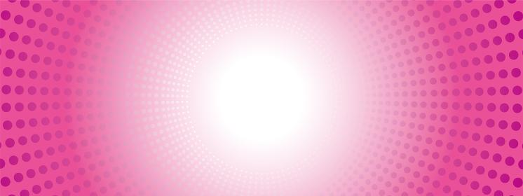 ドットの集中線の背景イラスト(ピンク)・コミック・漫画背景|放射・放射線
