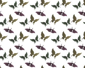 胡蝶 アゲハチョウ デザイン 継ぎ目のないシームレスパターン 背景素材 イラスト ベクター