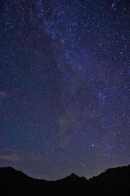 立山連峰 星空夜景
