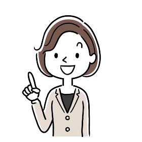 ベクター素材:笑顔の女性、ビジネスウーマン