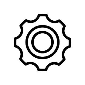 歯車・ギア アイコン / 機能・設定・システム