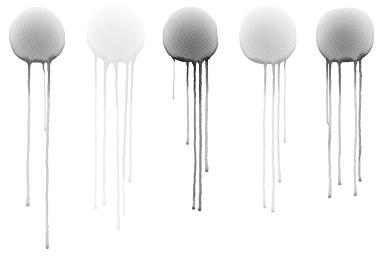 白い背景の上の抽象的な水彩画 グレー系