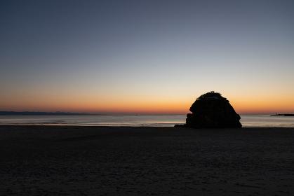 稲佐の浜の夕焼け 島根県出雲市