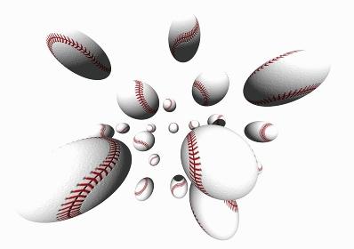 飛び出る野球ボール
