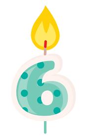 6歳のお誕生日キャンドル