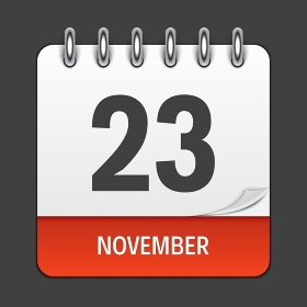 November 23 Calendar Daily Icon. Vector Illustration Emblem. Element of Design for Decoration Office Documents and Applications. Logo of Day, Date, Month and Holiday. Thanksgiving Day. EPS10. November 23 Calendar Daily Icon. Vector Illustration Emblem. Element of Design for Decoration Office Documents and Applications. Logo of Day, Date, Month and Holiday. Thanksgiving Day