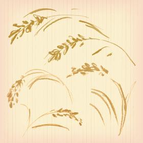 米のマーク セピア
