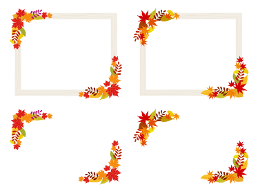 秋の紅葉を飾ったフレームセット