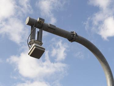 高速道路のスマートインターチェンジのセンサー